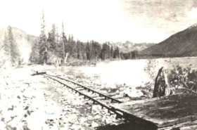 The Grand Trunk Pacific Railway road bed, along the Skeena … (descriptions771)