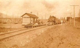 First train arriving in Telkwa, B.C. (descriptions801)