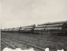 Canadian National railcars loaded with boom logs from the H… (descriptions1032)