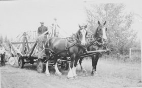 Bill Miller on Smithers parade wagon from the Dominion Expe… (descriptions1133)