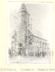 Moricetown Catholic Church under construction. (descriptions1235)