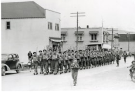 14th Aerodrome Defence Company on Main Street, leaving for … (descriptions1302)