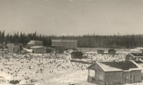 Smithers Main Street from far away. Visible is the Bulkley … (descriptions1381)
