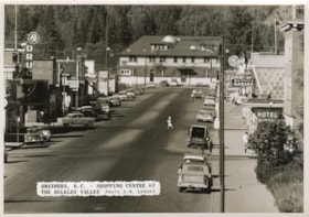Main Street, Smithers, B.C., with railroad station at end (descriptions1419)