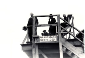 Grandstand seating at the Telkwa barbecue (descriptions1560)