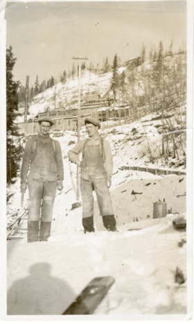 Jim Bovill and Bob Andrews at Duthie Mine (descriptions1916)