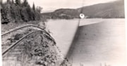 Washed out railroad tracks along the [Skeena River?] (descriptions1980)