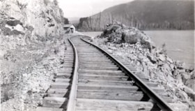 Washed out railroad tracks. (descriptions1982)