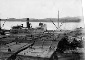 """Bannockburn"" unloading at Prince Rupert, B.C. (descriptions2240)"