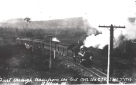 The first regular through train going through Telkwa. (descriptions2329)
