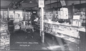 An interior view of the J. Mason Adams Drug Store located o… (descriptions2335)