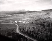 Aerial view of the Experimental Farm east of Smithers (descriptions7282)