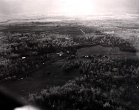 Aerial view of an unidentified farm in the Bulkley Valley (descriptions2483)