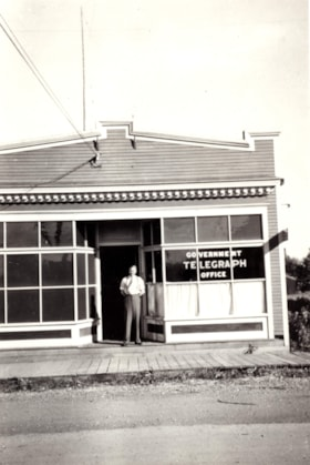 Government Telegraph Office in Smithers w/ Sgt. Buchanon (descriptions2535)