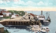 Painted/picture postcard of the docks in Prince Rupert, sev… (descriptions2659)