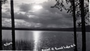 Postcard format.  Sunset over Round Lake. (descriptions2698)
