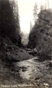 Postcard format.  Canyon Creek near Smithers. (descriptions2699)