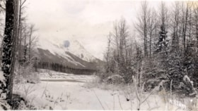 Postcard format.  Hudson Bay mountain and Bulkley River. (descriptions2701)