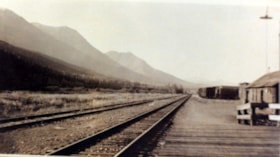 Looking west of Smithers down the railroad tracks, from the… (descriptions2761)