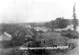 GTP construction near Telkwa.  Laying track was obviously e… (descriptions2781)