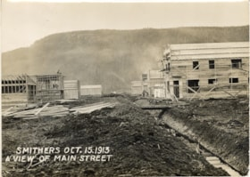 Smithers Oct. 15. 1913 a view of Main Street (descriptions2952)