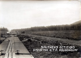 SITE OF THE G.T.P. ROUNDHOUSE, DATE ON PHOTGRAPH OCTOBER 15… (descriptions2967)