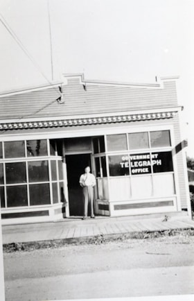 Government Telegraph office with man in front. (descriptions3099)