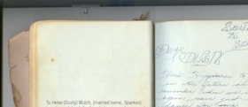 Page from Helen Sparkes' guest book (descriptions6614)