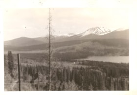 """View from McEwen's house - Duthie mine.  Power house on Lo… (descriptions3685)"