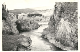 "Written on back of photo ""Canyon on Bulkley river, Moriceto… (descriptions3700)"