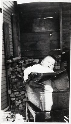George Wright in his father's suitcase (descriptions3805)
