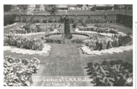 Flower Garden at C.N.R. Station in Smithers B.C. (descriptions8875)