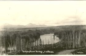 Postcard inscribed BULKLEY RIVER BRIDGES, SMITHERS (descriptions4454)