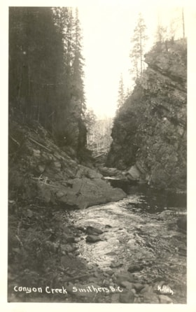 Postcard inscribed CANYON CREEK, SMITHERS B.C. (descriptions4455)