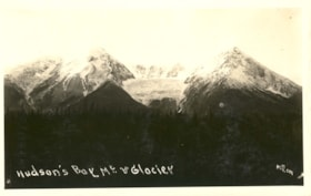 Postcard inscibed HUDSON's BAY MOUNTAIN AND GALCIER (descriptions4456)