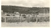 Rodeo grounds on hill in Telkwa School to extreme right sch… (descriptions4559)