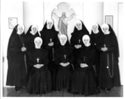 Formal photo of the Sisters of St. Ann. Standing left to ri… (descriptions4865)