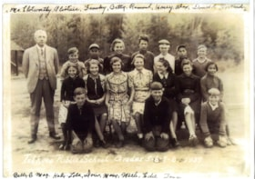 Class photo, GR 5-8, 1939, Telkwa Public School (descriptions4867)