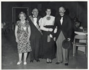 Ernie and Adie Hann posing with Max and Mary Weare with the… (descriptions5609)