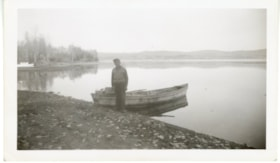 Unidentified man at Forestry Point, Babine Lake (descriptions6096)