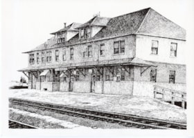 Drawing of Canadian National Railways station, Smithers, B.… (descriptions6192)
