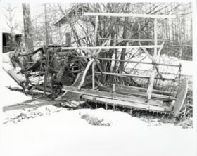 Farm machinery, one of two binders at E. Ellis Farm (descriptions6237)