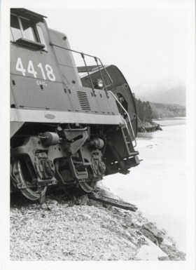 Canadian National Railway Kitselas wreck, April 26, 1969 (descriptions6251)