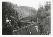 Canadian National Railways Kitselas wreck, April 26, 1969 (descriptions6254)
