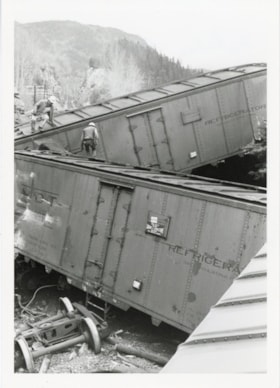 Canadian National Railways Kitselas wreck, April 26, 1969 (descriptions6255)