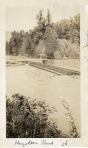 Railway tracks during the 1938 Hazelton flood (descriptions6922)