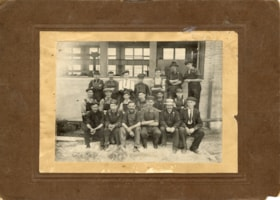Group of workers outside of the Smithers Grand Trunk Pacifi… (descriptions6938)