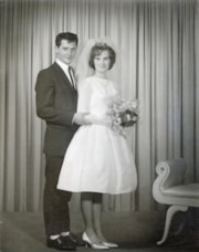 James Moore and Geraldine Sanders on their wedding day (descriptions7881)