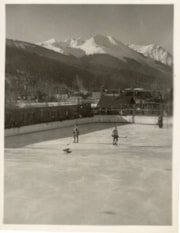 Hockey rink in front of Hudson Bay Mountain (descriptions7997)