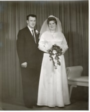 Alfred Collison and Judith Tompkins on their wedding day (descriptions8231)